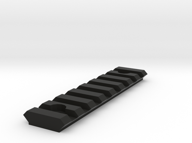 Picatinny Rail - 85mm Long in Black Strong & Flexible
