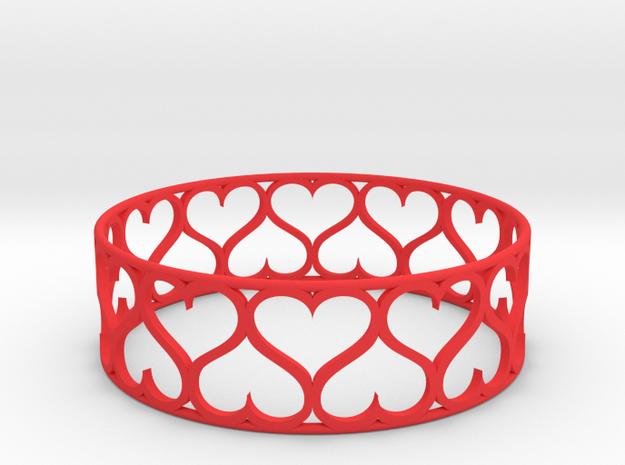 Love Bracelet XXL in Red Processed Versatile Plastic