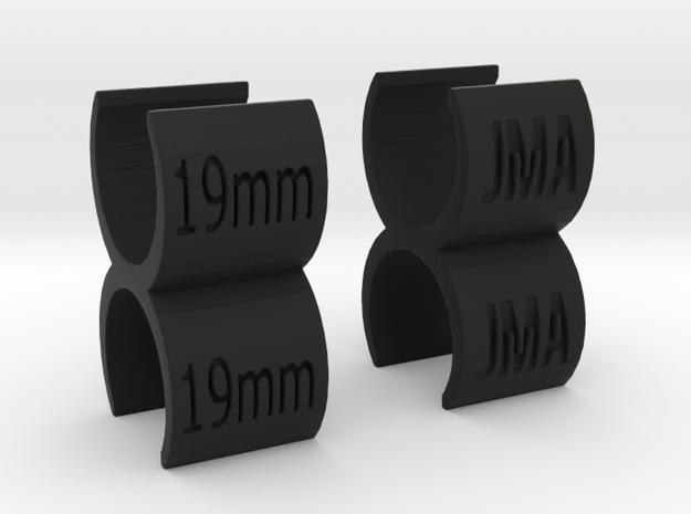 Mic Link 19x19mm Dual in Black Natural Versatile Plastic