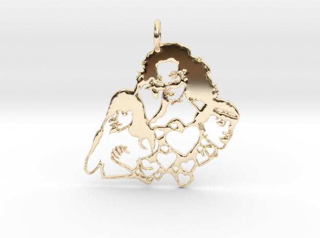 Katy Perry Fan Pendant in 14k Gold Plated Brass