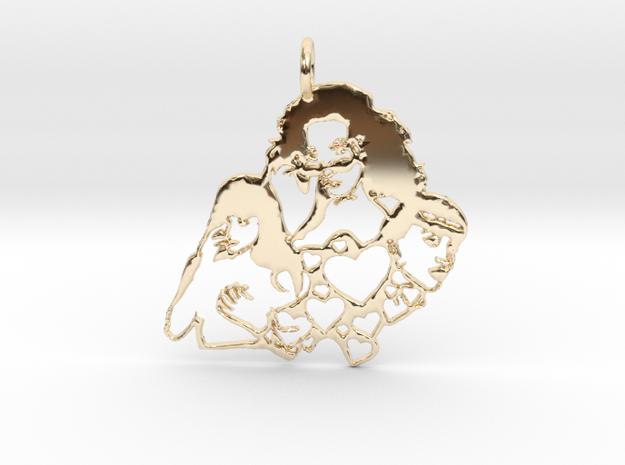 Katy Perry Fan Pendant in 14k Gold Plated Brass