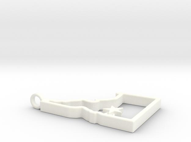 Southwest Idaho Home Pendant in White Processed Versatile Plastic