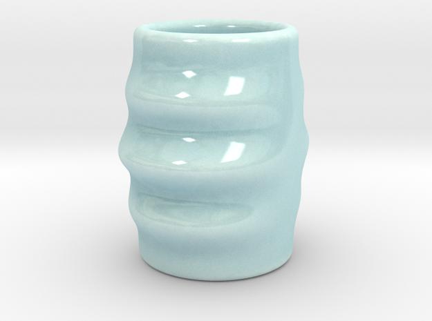 DRAW shot glass - Dizzy Dan in Gloss Celadon Green Porcelain