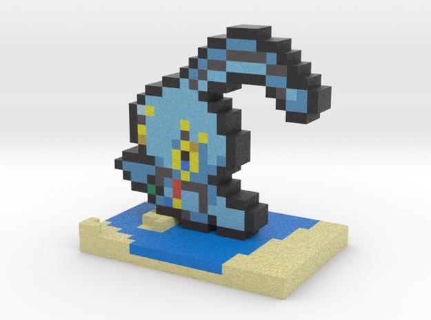 Pokemon Manaphy Pixel Art in Full Color Sandstone