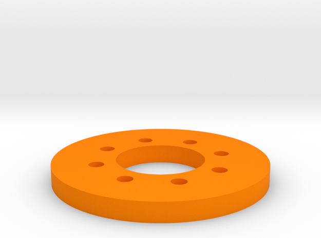 Bussard Dome Assembly - 1:1000 - 02 in Orange Strong & Flexible Polished