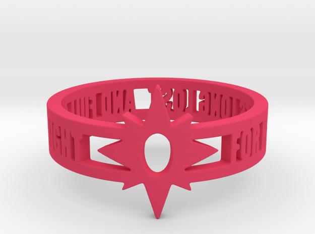Violet Lantern Oath Ring Size 12.25 in Pink Processed Versatile Plastic: 12.25 / 67.125