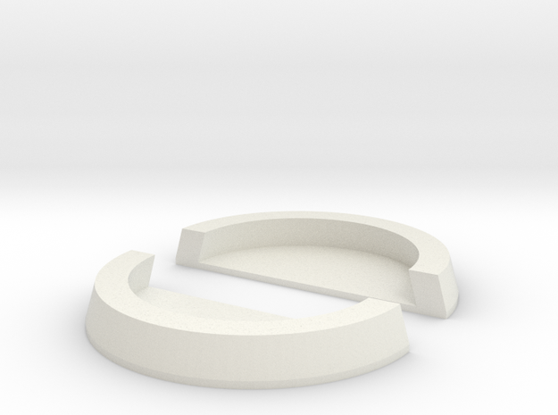 25mm to 32mm Cut Ring with Base in White Strong & Flexible