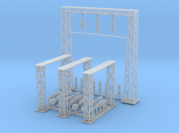 Power Station Section B N Scale in Smooth Fine Detail Plastic