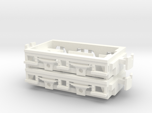Gnomy E-Lok, 2x frame in White Strong & Flexible Polished
