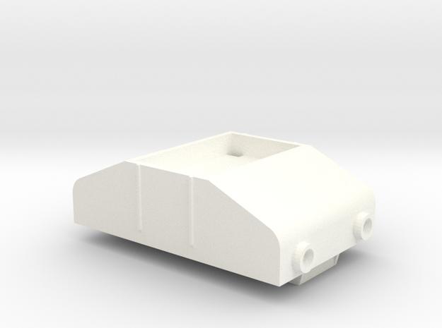 Gnomy E-Lok, 1x body in White Processed Versatile Plastic