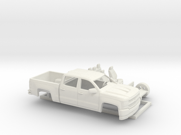 1/64 2016/17 Chevrolet Silverado Short Bed Kit in White Natural Versatile Plastic