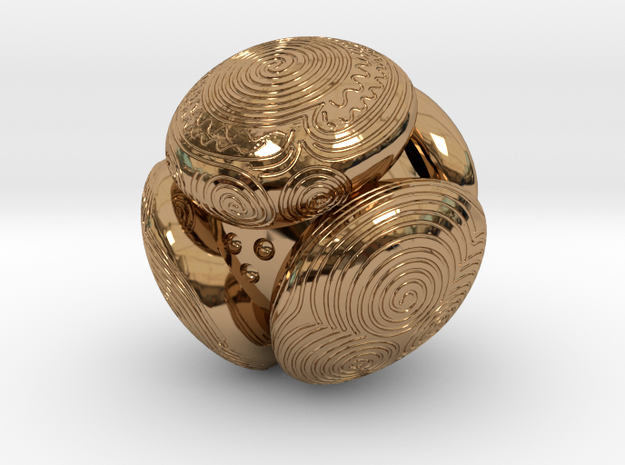 Towie Stone (13,8mm) in Polished Brass