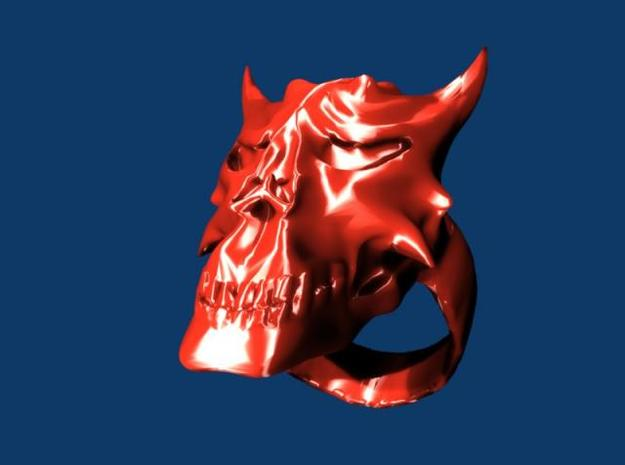 Demon Skull Ring 3d printed Description