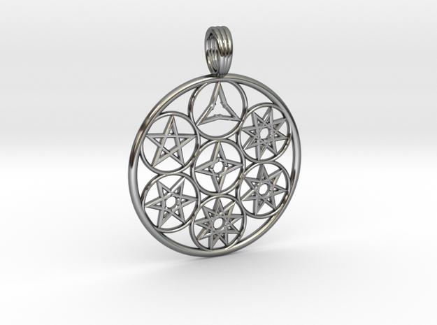 SEVEN PEACE in Premium Silver