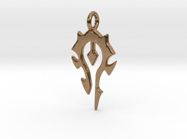 Warcraft horde pendant in Natural Brass