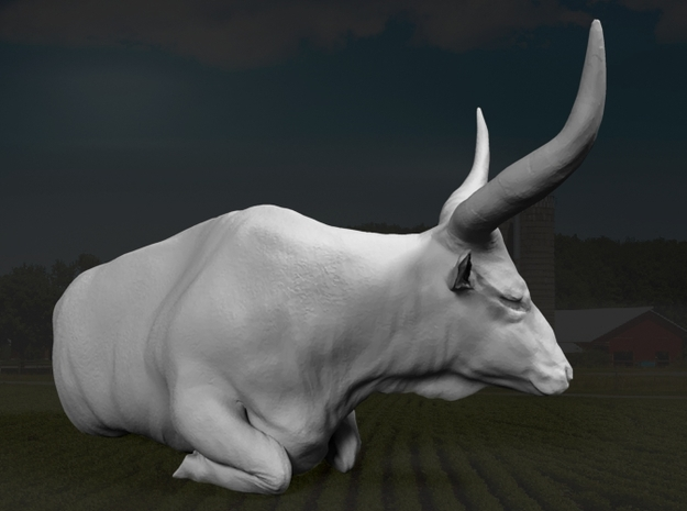 Ankole-Watusi 1:22 Lying Female 2 3d printed