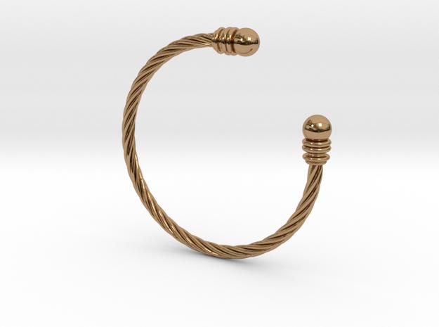 Bracelet ZXY XL in Polished Brass