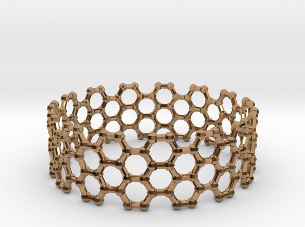 Bracelet AZ Large in Polished Brass