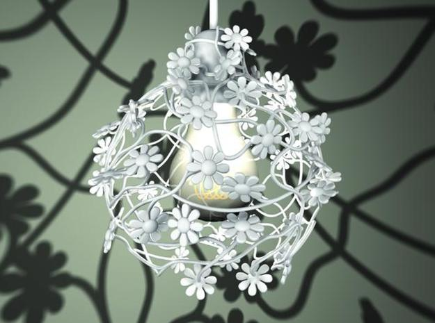 flowerlamp, ivy-grown lightshade 3d printed Flower Lamp