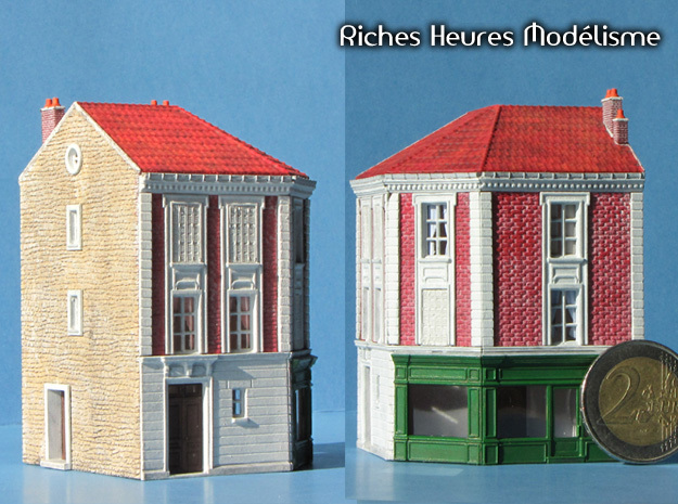 NGG-BVA02dd - Large Railway Station in Smooth Fine Detail Plastic
