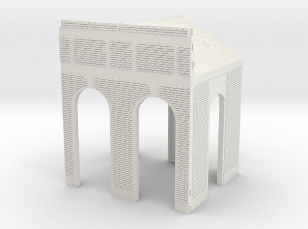 NGG-BVAg01a - Large Railway Station in White Natural Versatile Plastic