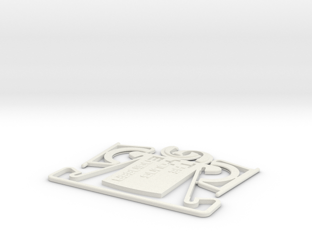 TYE Business card Phone stand in White Strong & Flexible