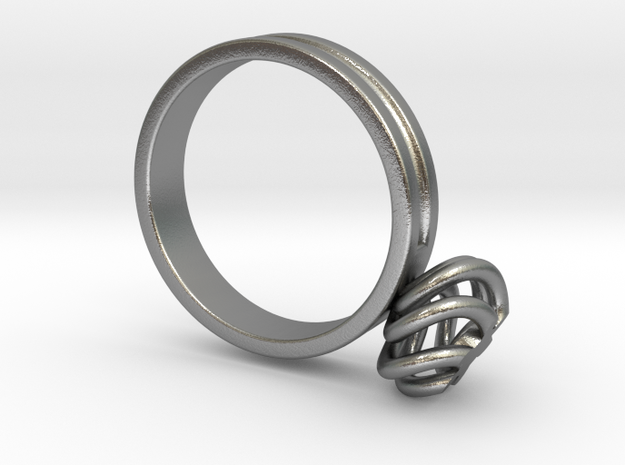 Twirl Ring Size 13mm UK C1/2 US 1 3/4 in Fine Detail Polished Silver