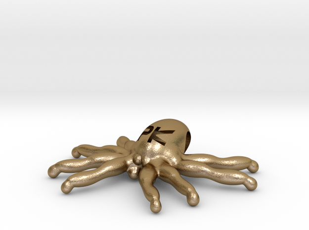 """The Parallelkeller """"Spider-Kraken"""" pendant in Polished Gold Steel"""