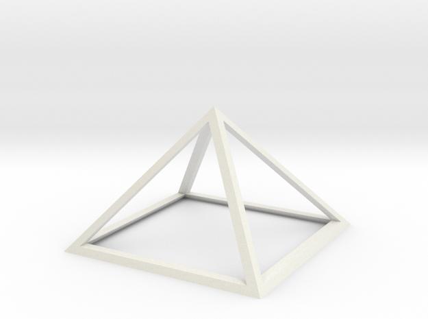 "Perfect Pyramid 1 Foot 51°51""14"" in White Natural Versatile Plastic"