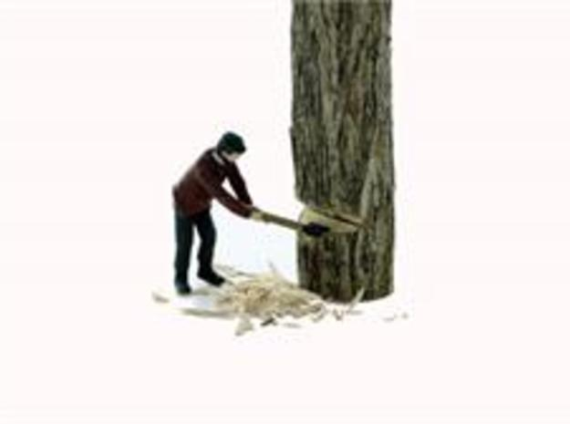 S Logging Feller #2 chopping a tree Figure in Frosted Ultra Detail