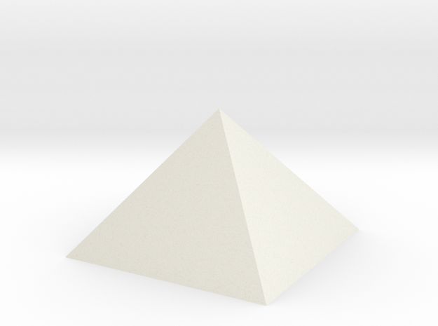 "Perfect Pyramid Closed 51°51""14"" in White Natural Versatile Plastic"