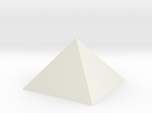 "Perfect Pyramid Closed 51°51""14"" in White Natural Versatile Plastic"