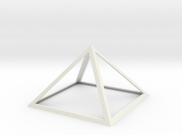 "Perfect Pyramid 18 INCH 51°51""14"" in White Natural Versatile Plastic"