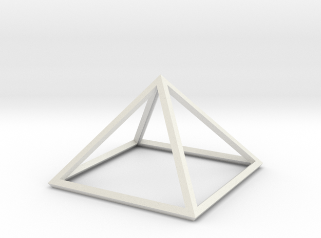 """Perfect Pyramid Open Thick 51°51""""14"""" in White Natural Versatile Plastic"""