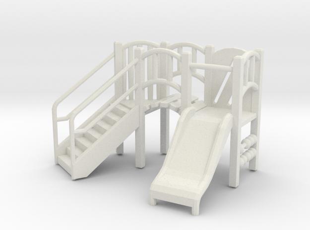 Playground Equipment 01. 1:48 Scale  in White Natural Versatile Plastic