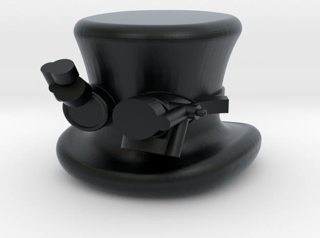 Mini Fig Steam Punk Top Hat N Goggs in Black Hi-Def Acrylate