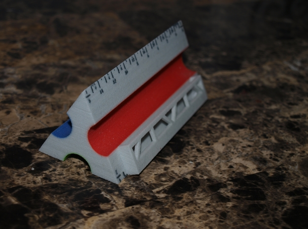 Architect's Scale Business Card Holder in Full Color Sandstone