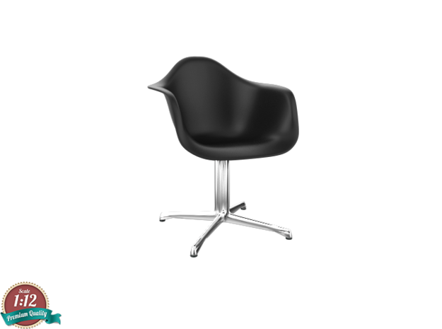 Miniature Eames DAL Chair - Charles Eames in White Strong & Flexible