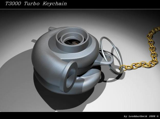 Turbo Keychain small 3d printed Render of the turbo made in 3dsmax5
