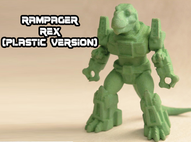 Rampager Rex in Green Strong & Flexible Polished