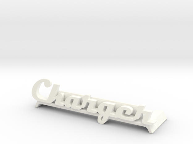 Charger Desktop Picture Holder in White Processed Versatile Plastic