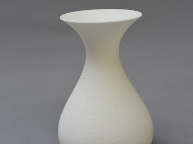 Math Vase in White Natural Versatile Plastic