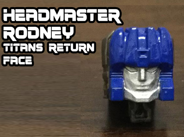 Rodney Faceplate (Titans Return) in Smooth Fine Detail Plastic