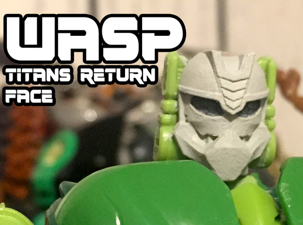 Wasp Face (Titans Return) in Smooth Fine Detail Plastic