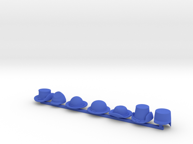 7 x American Civil War in Blue Processed Versatile Plastic