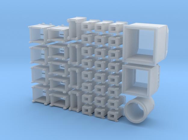 Diverse containers, oa glasbakken, papiercontainer
