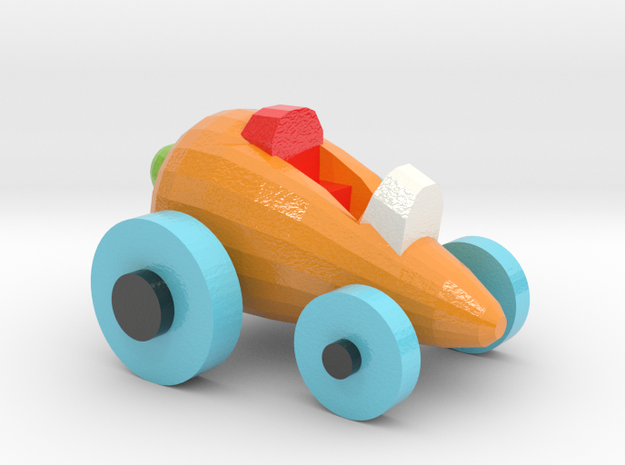 Carrot Car 4 in Glossy Full Color Sandstone