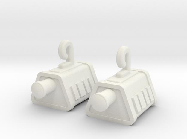 Self Sealing Stembolt Earrings in White Strong & Flexible