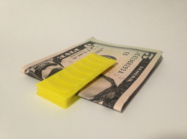 MoneyClip in White Strong & Flexible