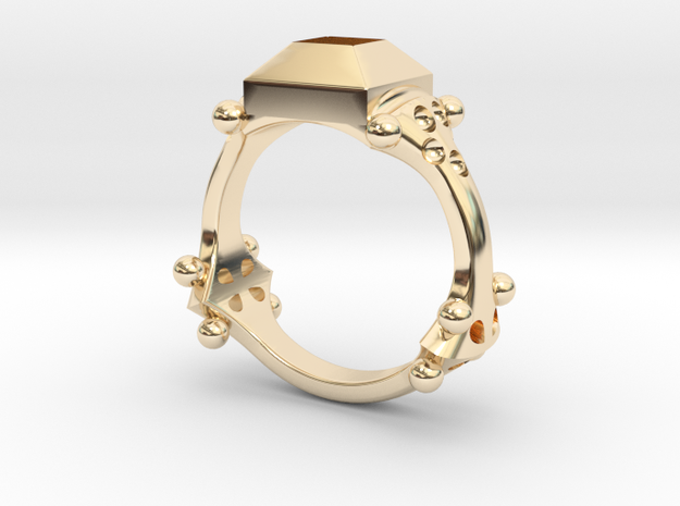 Ring Quatrefoil in 14k Gold Plated Brass: 5.5 / 50.25